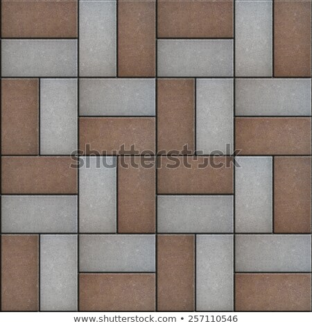 Rectangular Paving Slabs Laid as Decorative. Seamless Texture. Stock photo © tashatuvango