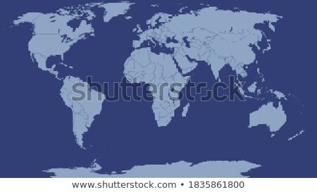 Niebieski ziemi świecie kontynenty przezroczysty Zdjęcia stock © cherezoff