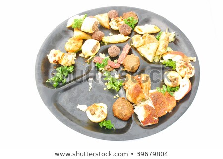 Witte salade ruimte baksteen asian indian Stockfoto © tilo