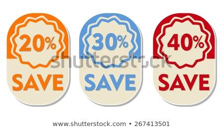 40 · yüzde · kırmızı · kırk · numara · beyaz - stok fotoğraf © marinini