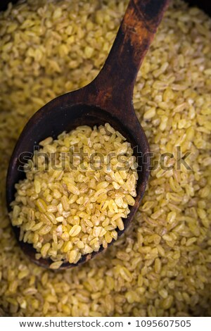Gebarsten tarwe textuur gedroogd koken Stockfoto © ozgur