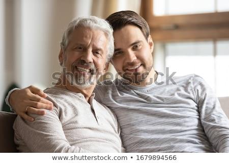 Középkorú férfi élvezi jó nevetés kecskeszakáll Stock fotó © ozgur