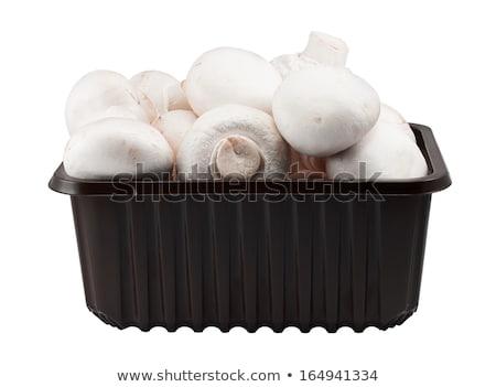 свежие · кнопки · грибы · квадратный · чаши - Сток-фото © ozgur