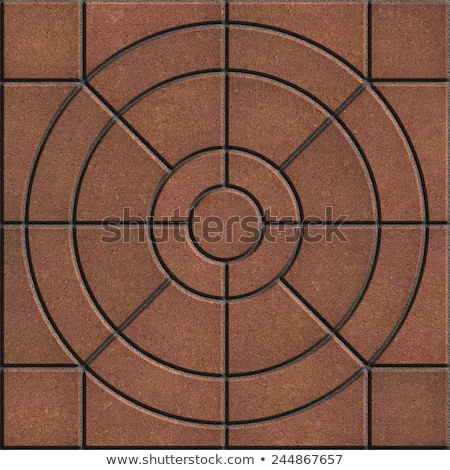 Brown Pavement  Slabs in the Form on Circle. Stock photo © tashatuvango