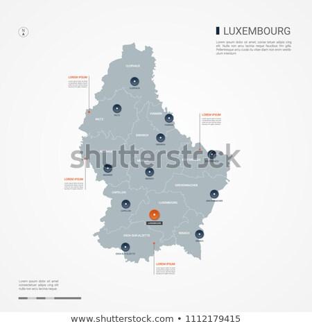 Narancs gomb kép térképek Luxemburg űrlap Stock fotó © mayboro