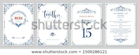 Blue formal invitation border Stock photo © Irisangel