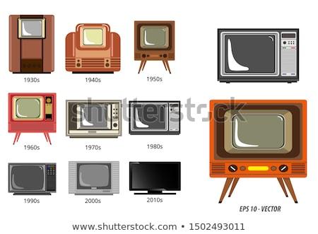 eletrônico · rádio · tubo · velho · cinza · televisão - foto stock © devulderj