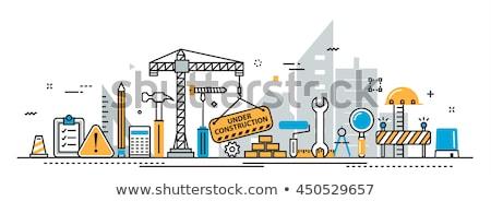 建設 に投稿 言葉 木製 壁 オフィス ストックフォト © fuzzbones0
