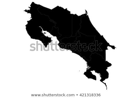Stockfoto: Kaart · Costa · Rica · achtergrond · Rood · lijn · vector