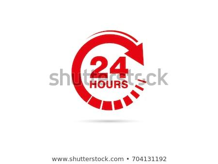 24 teslim kırmızı vektör ikon dizayn Stok fotoğraf © rizwanali3d