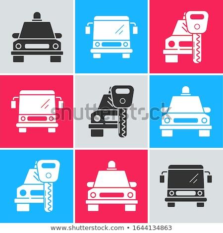 Modern araba anahtarları araç yalıtılmış beyaz yüzey Stok fotoğraf © crashtackle