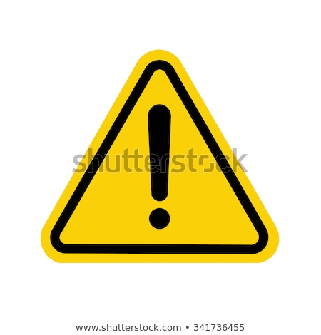 ストックフォト: 危険標識 · 黄色 · ベクトル · アイコン · ボタン · デザイン