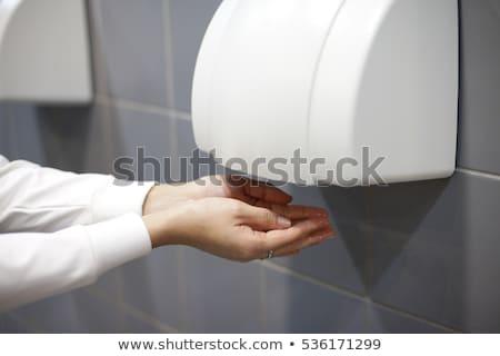 Automatisch hand badkamer schone toilet hot Stockfoto © ozaiachin