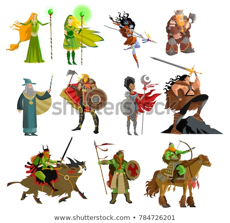 woman elf warrior with spear stock photo © wampa