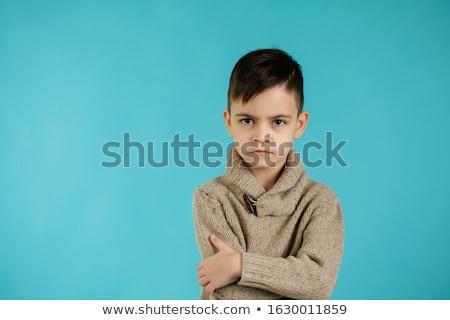 Portré fiú fehér stúdió fej vállak Stock fotó © ozgur