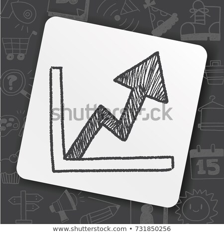 doodle graph icon stock photo © pakete