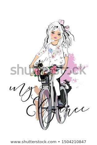 gyönyörű · divat · lány · fiatal · nő · néz · ahogy - stock fotó © svetography