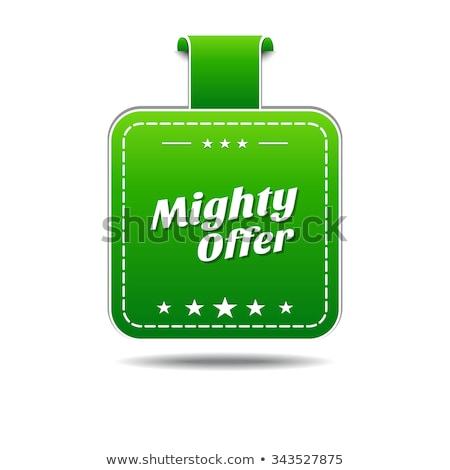 Potężny oferta zielone wektora ikona projektu Zdjęcia stock © rizwanali3d