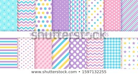 Sem costura ziguezague padrão pastel cores primavera Foto stock © mcherevan