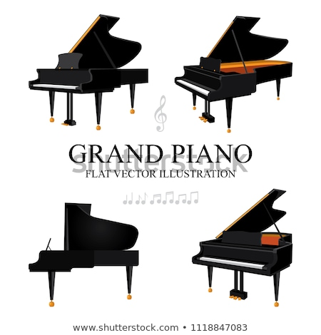 vector flat style grand piano illustration  Stock photo © TRIKONA