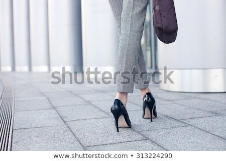 Işkadını yüksek topuklu beyaz ayakkabı ekran kadın Stok fotoğraf © wavebreak_media