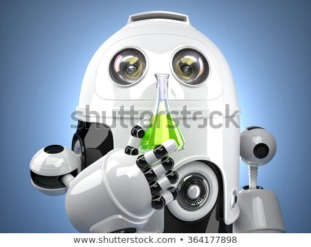3D Robot with test glass flask Stock photo © Kirill_M