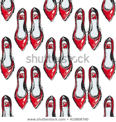 vízfesték · kézzel · rajzolt · divat · illusztráció · cipők · szöveg - stock fotó © gigi_linquiet