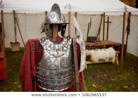 Vintage Iron Knight with pole-axe Stock photo © Steffus