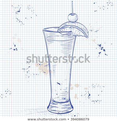 テキーラ 日の出 現実的な カクテル ノートブック ストックフォト © netkov1