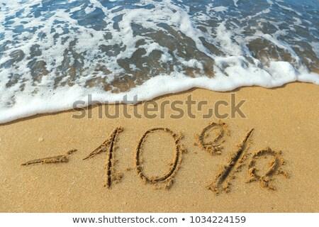 Tíz százalék árengedmény 3D kép vágási körvonal Stock fotó © idesign