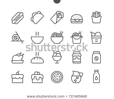 ícone · abstrato · projeto · quente · cozinhar - foto stock © rastudio