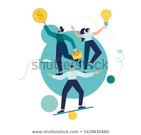 difícil · negócio · empresário · financiar · arranha-céu · louco - foto stock © leeavison