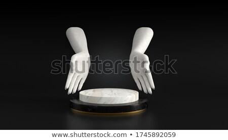 cilindro · femenino · manos · blanco · sombra - foto stock © master1305