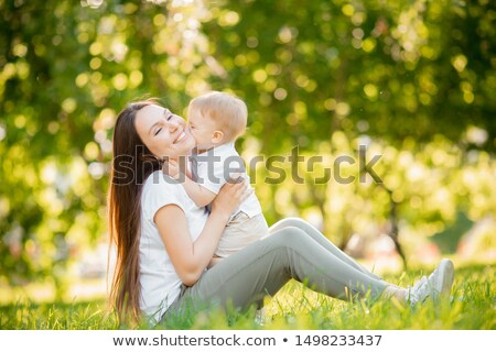little baby kissed by his loving mother Stock photo © Giulio_Fornasar