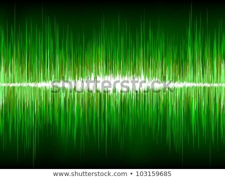 Absztrakt zöld hullámfoma eps vektor akta Stock fotó © beholdereye