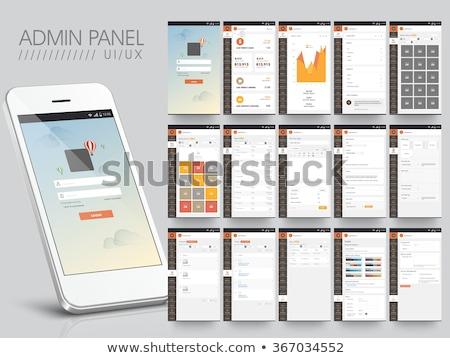 Chat app icon sjabloon mobiele toepassing Stockfoto © Said