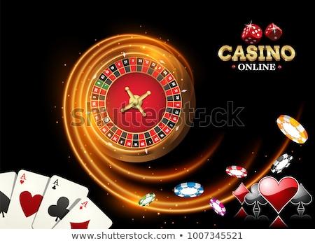 Ardente casino illustrazione business luce segno Foto d'archivio © Natali_Brill