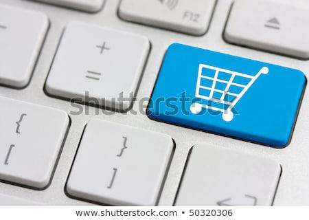 klawiatury · czerwony · przycisk · zakupy · online · działalności · biuro - zdjęcia stock © oakozhan