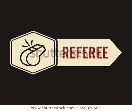 the whistle door tag icon label or badge referee symbol flat design can be use on sports sites stock photo © jeksongraphics