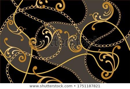 Kolye altın çiçekler mavi ışık kâğıt Stok fotoğraf © blackmoon979