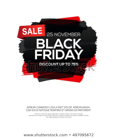 Black friday venda vetor etiqueta projeto salpico Foto stock © SArts