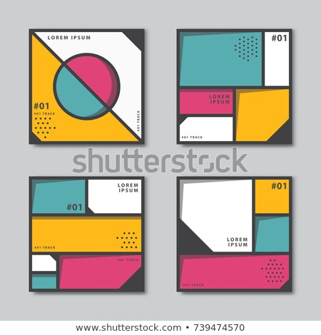 modern business card with abstract shapes template vector design Stock photo © SArts
