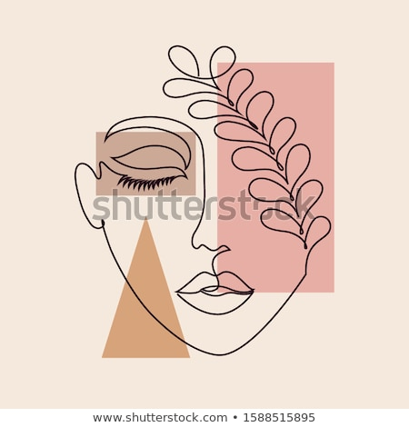 drawing of a woman face Stock photo © lubavnel