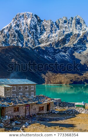 gokyo lake morning stock photo © pancaketom