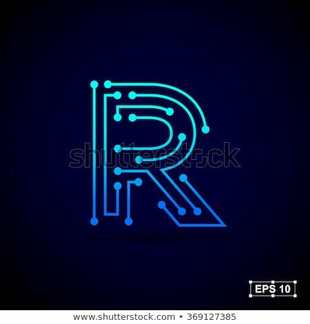 Criador carta ícone abstrato design de logotipo vetor Foto stock © chatchai5172