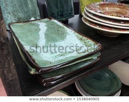 Diep rechthoekig witte keramische schotel schone Stockfoto © Digifoodstock
