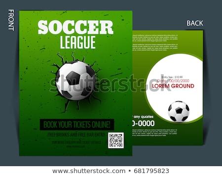 football tournament flyer invitation template Stock photo © SArts
