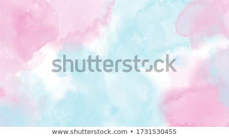 blue and pink watercolor splash or paint stroke with letter than stock photo © sarts