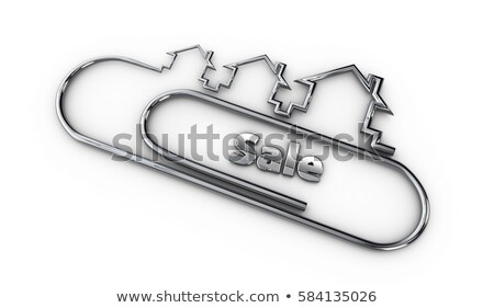 silver 3d modern design logo with sale word 3d illustration Stock photo © tussik