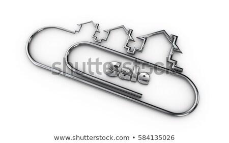 ezüst · 3D · modern · terv · logo · vásár - stock fotó © tussik